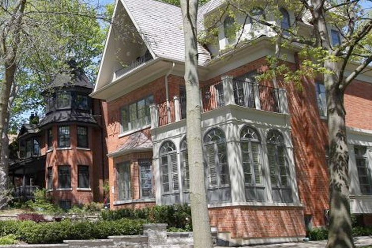 Beautiful old houses in residential neighbourhood in The Beaches area of Toronto